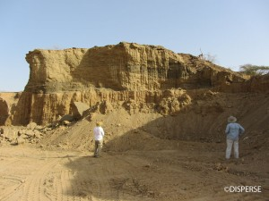 Fig. 4. Floodplain and channel deposits exposed in a quarry, Jizan Province. Photo: R. Inglis, 2013